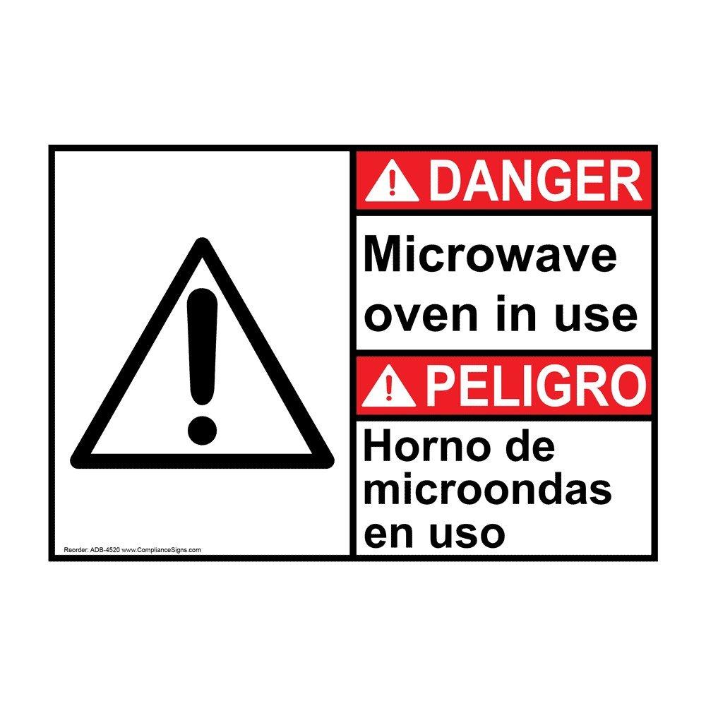 Danger Microwave Oven in Use - Horno De Microondas En USO ...