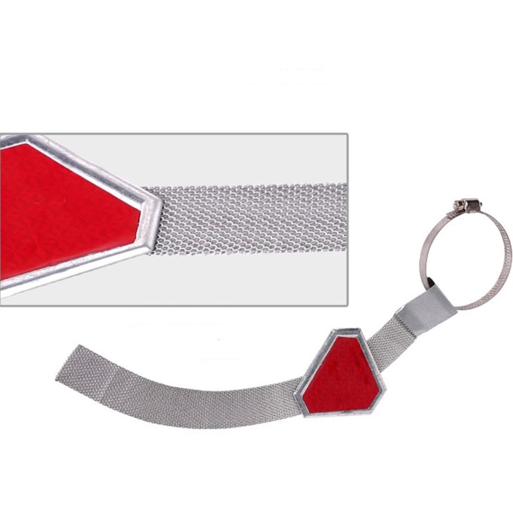 Universal 14.6in Car Anti Static Reflective Triangle Strip Earth to Vehicle Belts Enhance Safety Wire Strap Reflective by Alician (Image #2)