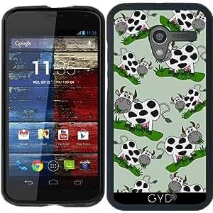 Funda para Motorola Moto X (Generation 1) - Enorme Vaca Comiendo En El Campo by zorg