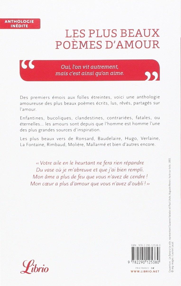 Amazonfr Les Plus Beaux Poèmes Damour Marie Anne Jost