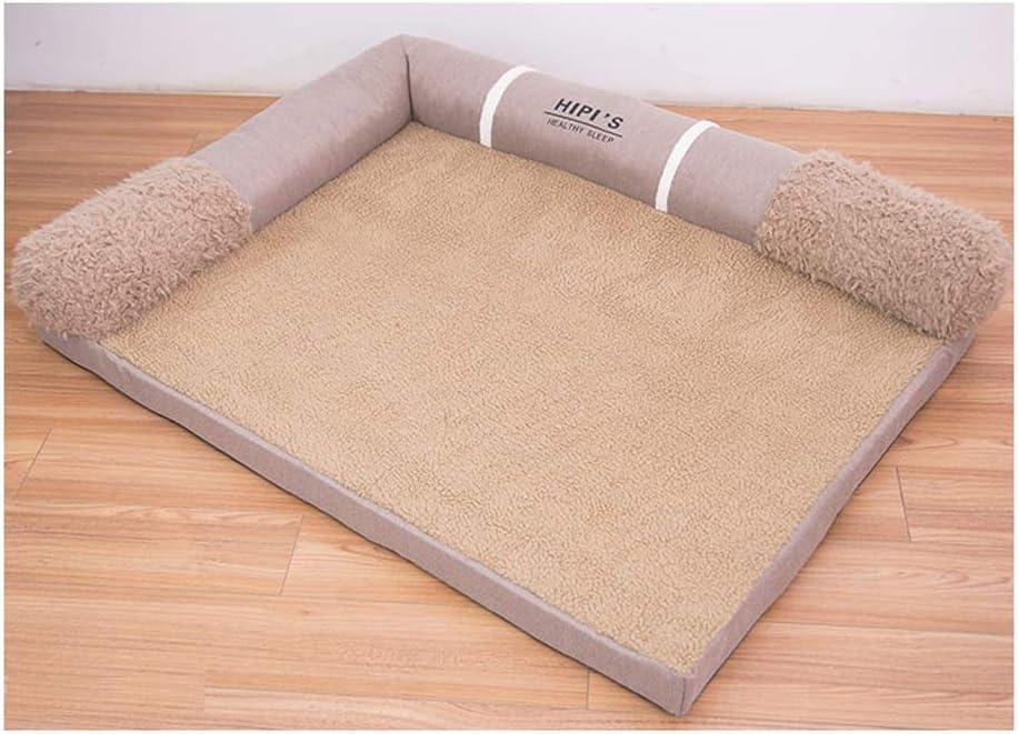 WJGRB 大型犬のペットの巣マット四季普遍的なペットのソファベッド取り外し可能と洗えるペット夏用品 pet bed (Color : B) B