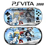 Decorative Video Game Skin Decal Cover Sticker for Sony PlayStation PS Vita Slim (PCH-2000) - The Smurfs