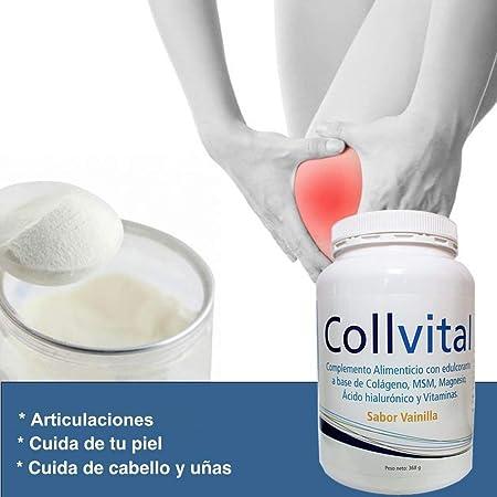 Colageno Collvital en polvo con MSM, Magnesio, Ácido hialuronico y vitaminas con sabor a vainilla 368Gr en polvo: Amazon.es: Salud y cuidado personal
