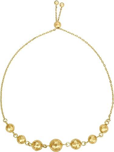 Simple gold bracelet  14k gold bead bracelet  Dainty gold bracelet with solid 14k yellow gold  Friendship bracelet  Graduation gift