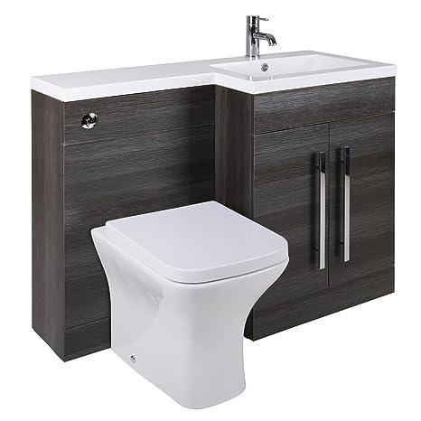 Aquariss Toilette WC Set+Spülkasten Verkleidung+Waschtisch ...