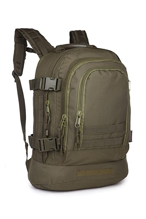 1b983c66bd Eunichara Outdoor Camping Hiking Expandable Military Style Backpack with  Hydration   Laptop Compartment OD Green