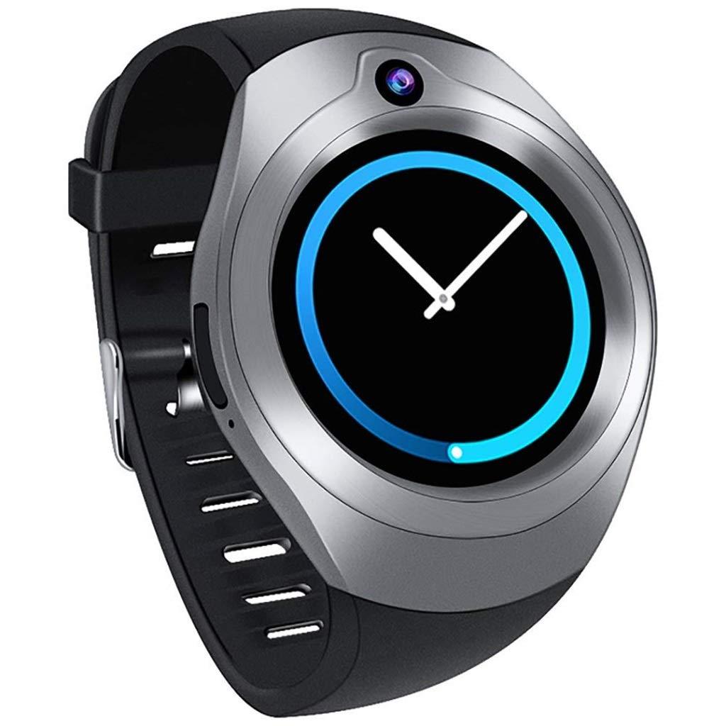 フィットネストラッカースマートスポーツブレスレットAndroid 5.1-1.3インチブラック/シルバーのためのWIFIステップ防水心拍数の監視の男性と女性のスマートな時計 B07MXS7W5N Silver