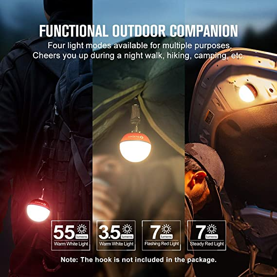 Rechargeable Bedside Lamp with Magnetic Bottom for Home Decor Press Dimmable 4 Modes Olight/® Obulb 55 Lumens LED Orb Night Light Nursery Gray Camping