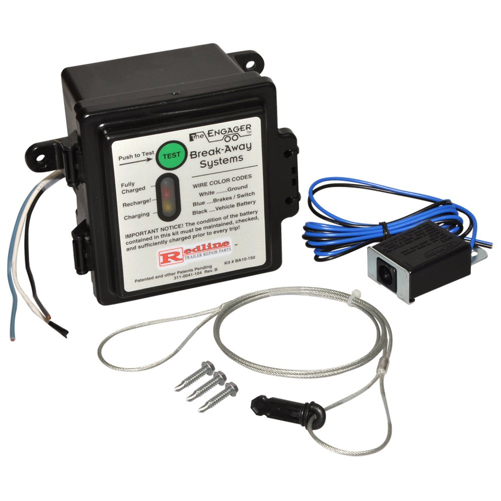 ''ENGAGER'' BRK-AWAY KIT 5AH W/LED CHRG INDICATOR by Redneck Trailer Supply