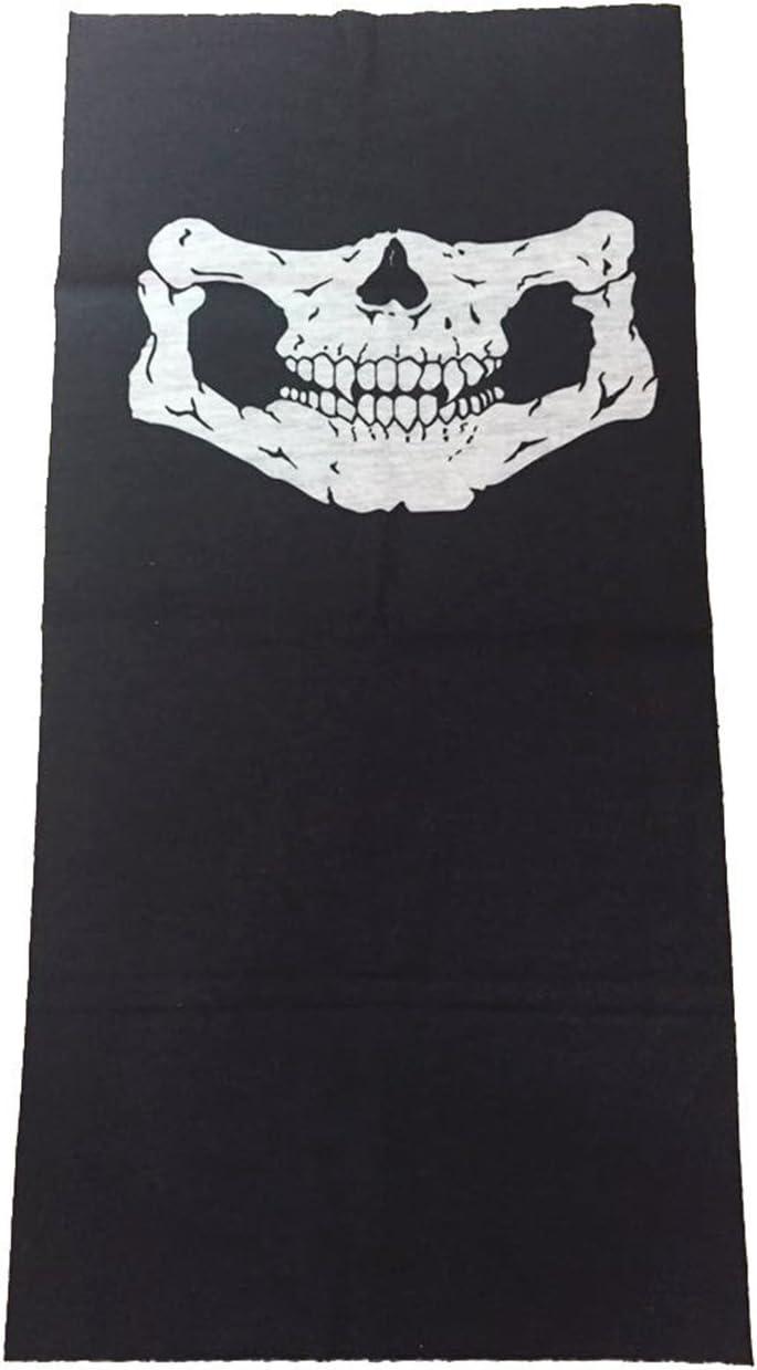 Multifunctional Headwear Bandana Motif m/âchoire de squelette Noir