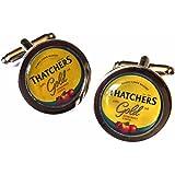 Thatchers Gold Cider Chrome Cufflinks