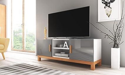 Lahti – Mueble TV Moderno/Mesa para TV/Elementos de Madera (140 cm ...