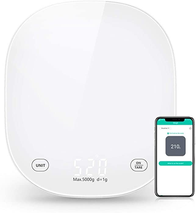 Household Smart Kitchen Food Scale,with A Nutrition Calculator To Reduce Calories and Weight (using Smartphone App) (Color : C)