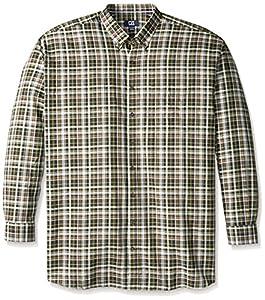 Cutter & Buck Men's Big-Tall Long Sleeve Hansen Plaid Woven Shirt, Multi, 4X/Big