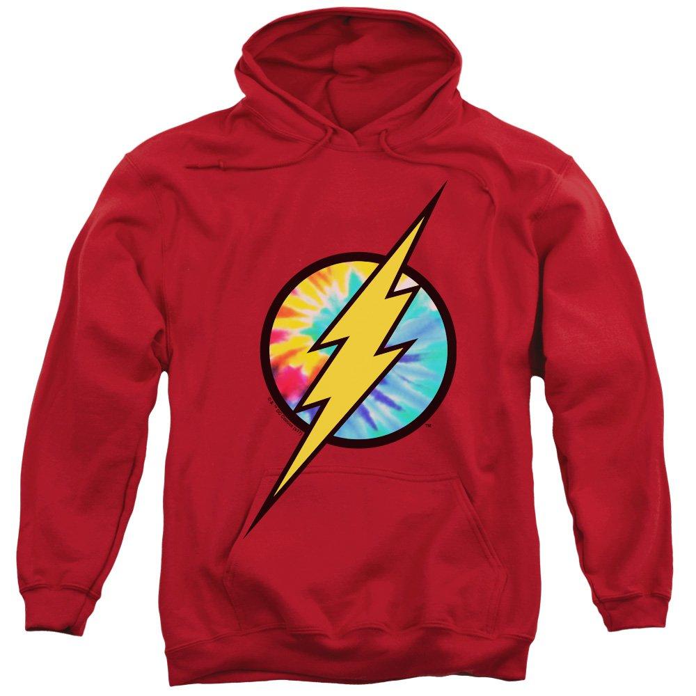 Dc Flash - - Herren Tie Dye Flash Logo Pullover Hoodie
