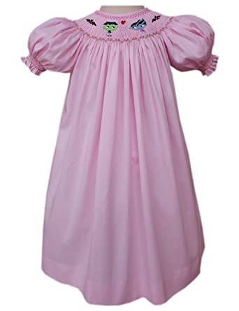 8c1beb34e37b Amazon.com  Carouselwear Girls Halloween Pink Bishop Dress Smocked ...