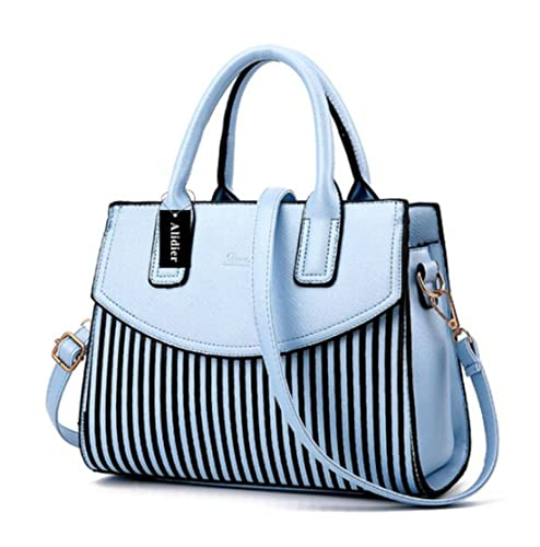 130ddd48631b Alidear Alidier New Brand and 2016 Women Top Handle Satchel Handbags Tote  Purse Sky Blue  Amazon.in  Shoes   Handbags