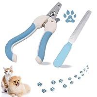 Lumbor37 Tijeras de uñas para Mascotas Cortauñas Paw Grooming Trimmers con Safety Guard para Evitar el Exceso de Corte para Puppy Doggie Kitty