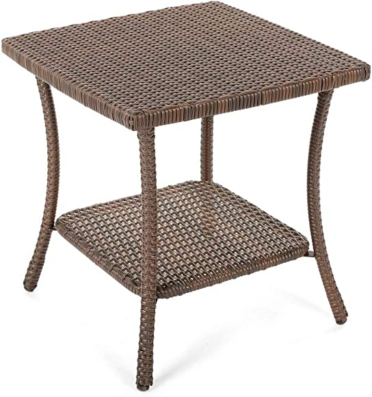 W Unlimited Leisure Collection Outdoor Garden Patio Furniture End Table