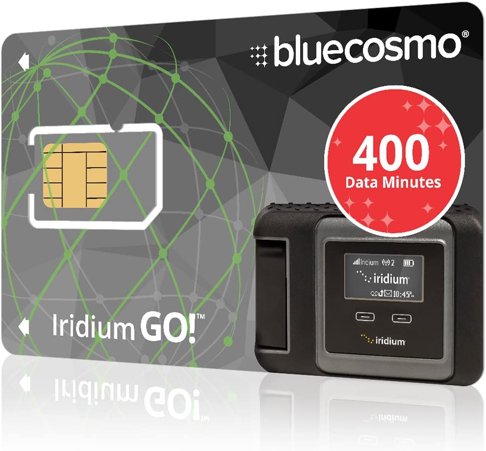 B00MYHVB6E BlueCosmo Iridium GO! 400 Data Minute Prepaid Global SIM Card – 6 Month Expiry – 400 Data Minutes – 200 Voice Minutes – 1,200 SMS Text Messages – No Activation Fee – No Monthly Fee – Rollover 61ITSIcwJy