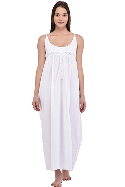 Cotton Lane Plus Size Ladies White Cotton Nightdress  Amazon.co.uk  Clothing 8799c205e