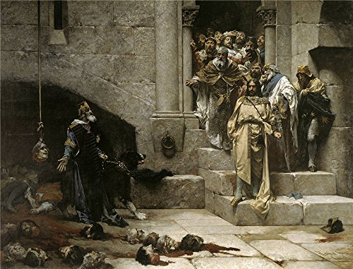 Oil Painting 'Casado Del Alisal Jose La Leyenda Del Rey Monje O La Campana De Huesca 1880 ' Printing On Polyster Canvas , 24 X 31 Inch / 61 X 80 Cm ,the Best Basement Gallery Art And Home Decoration And Gifts Is This Vivid Art Decorative Prints On Canvas -