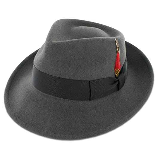 1940s Mens Hat Styles and History Belfry Gangster 100% Wool Stain-Resistant Crushable Dress Fedora in 4 Colors $35.99 AT vintagedancer.com