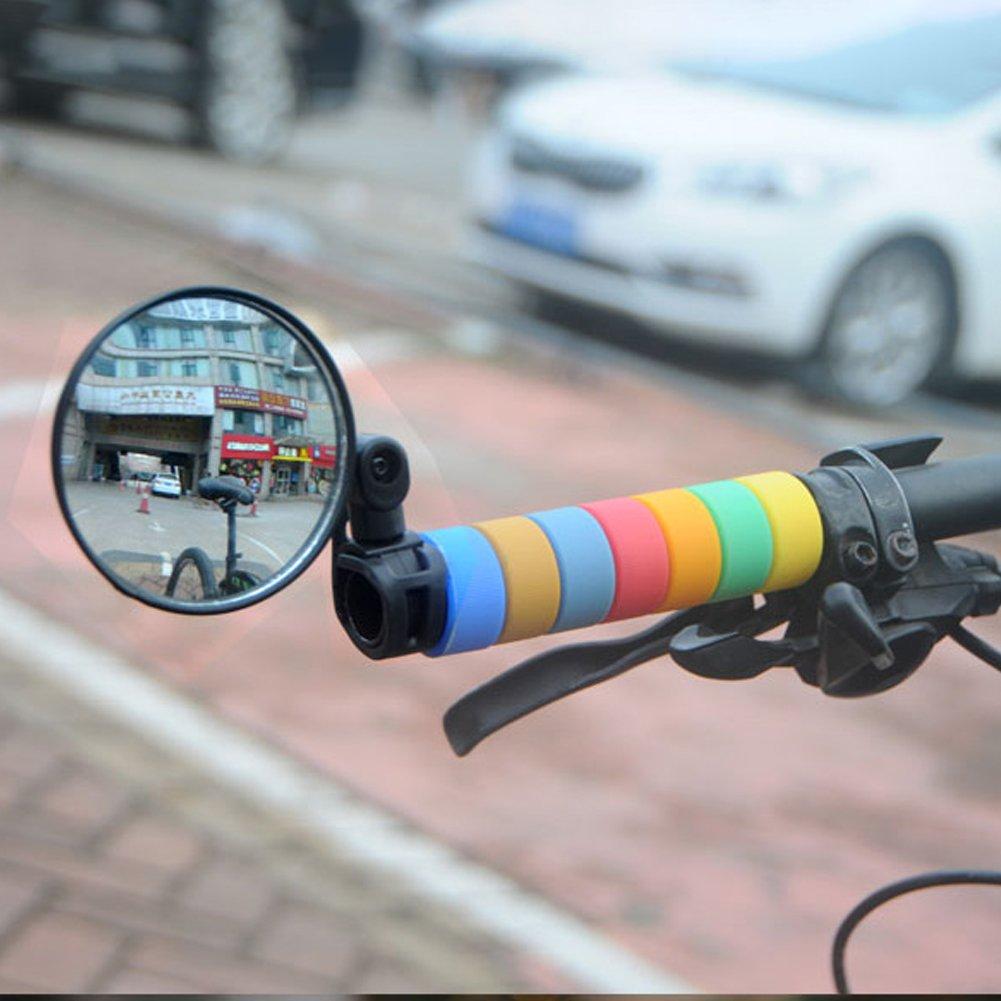 Extrbici V/élo VTT R/étroviseur R/églable de Guidon Miroir R/étro Universel pour V/élo /électrique Moto Scooter Bicyclette /& Rotation /à 360 Degr/és Flexibles x 1 Paire Aaccessoire V/élo