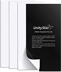 UnityStar 4-Pack Vent Magnet Covers, 15.5 x 8 inches Double Thick Magnetic Vent Covers for Wall Registers or Floor Air Vents, RV, Home HVAC, AC (Not for Ceiling Vents)