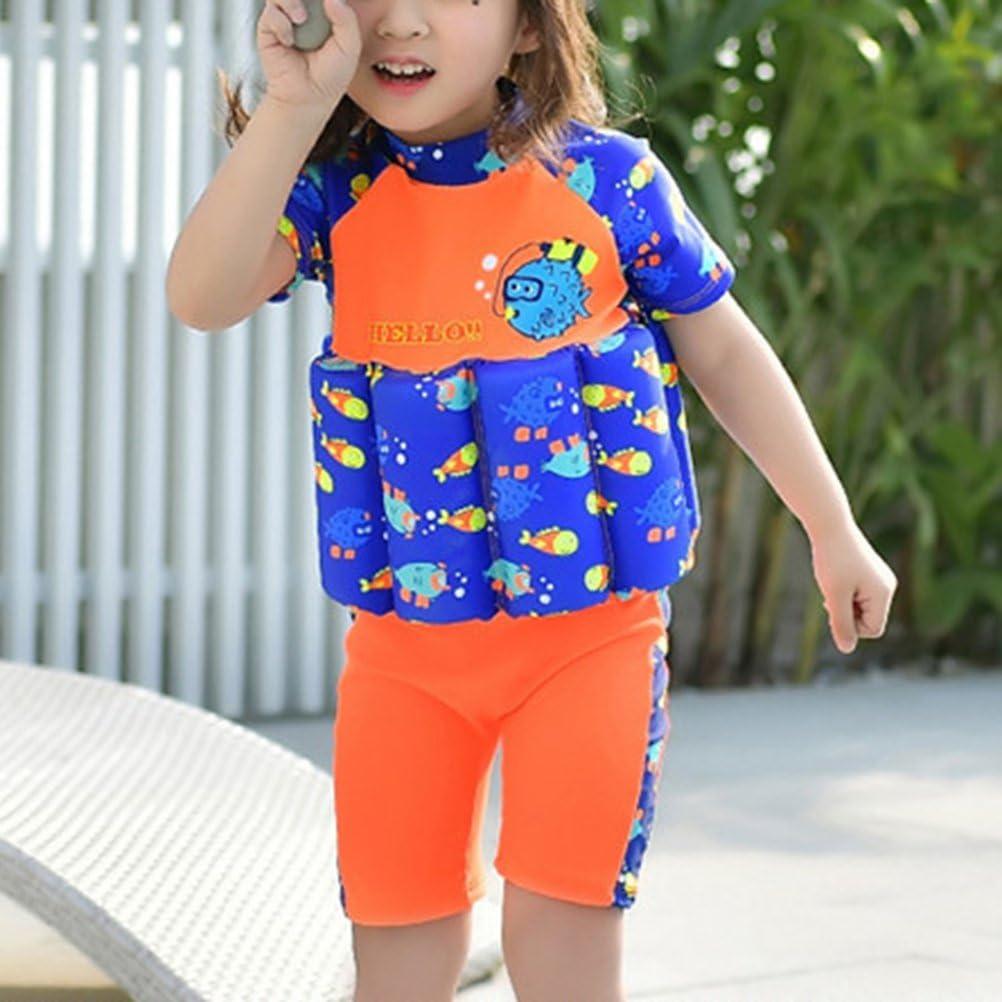 VORCOOL Buoyancy Swimsuit,Children One-Piece Children Floatation Swimsuit Swim Vest Detachable Float Swimwear for Boy Girl(Size M)
