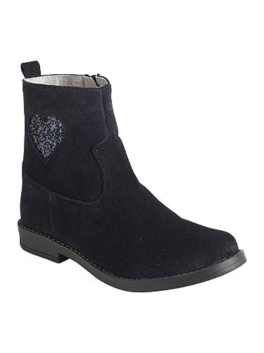 024cbd0123acb Vertbaudet Boots Cuir Fille Coeur Paillettes  Amazon.fr  Chaussures ...