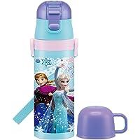 Skater斯凯达保温杯 儿童用 2WAY 不锈钢水壶 带杯子 安娜和冰雪女王 19 迪士尼 430ml SKDC4