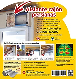 OPTIM HOME - Polynum - Kit Aislante para cajón de persianas - 1,2 x