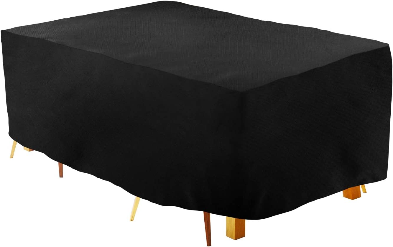 UYGHHK Outdoor Furniture Covers Waterproof, 420D 98x79x31.5 inch Covers for Patio Table Chairs Set Rectangular/Oval