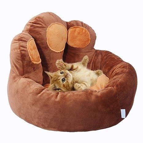 soundwinds - Cojín cálido para Perro, Cesta para Mascotas, Cama con Forma de Oso