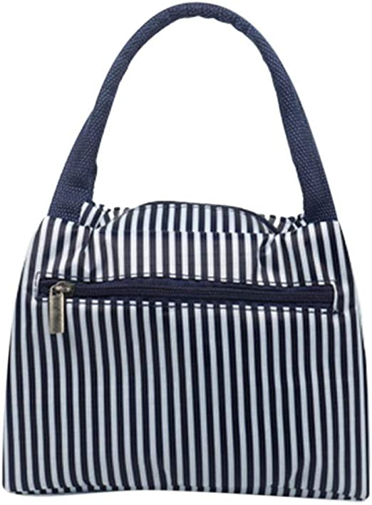 Ladiy New Prints Heat Preservation Portable Zipper Closure Lunch Bag Tote Lunch Bags