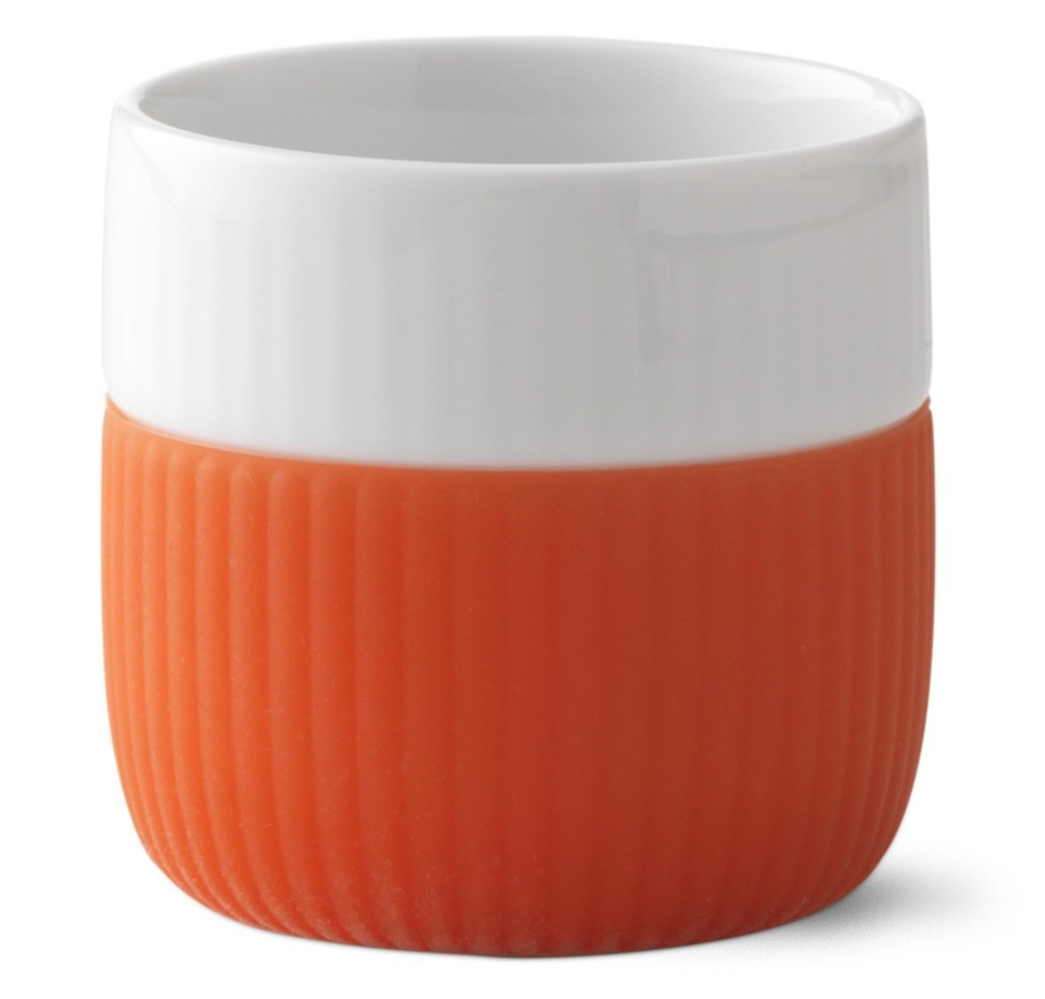 Poppy Red Royal Copenhagen Fluted Contrast Espresso Cup 8cl