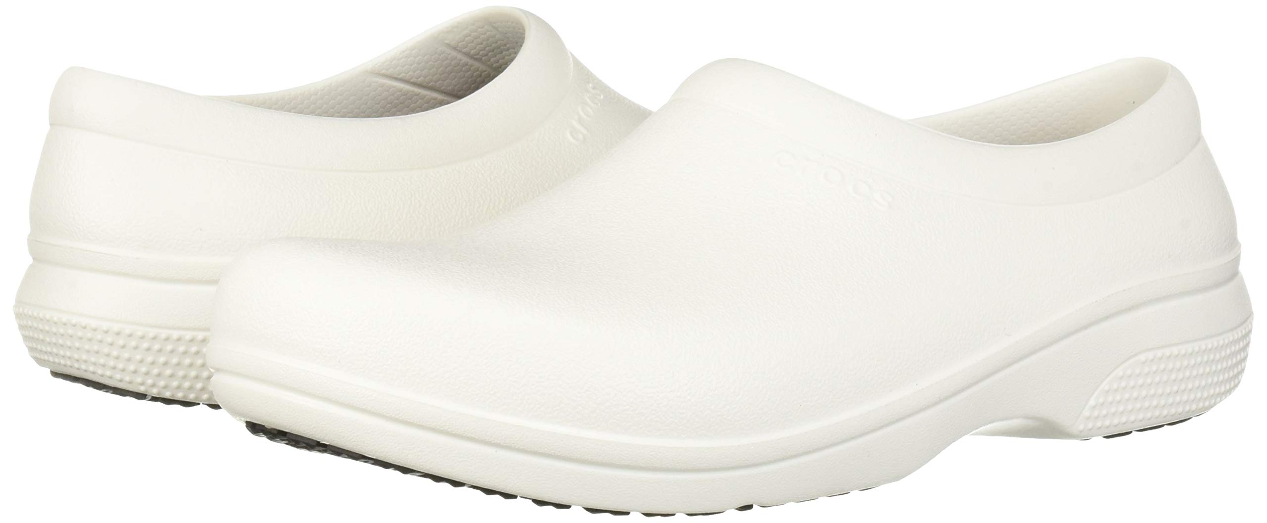 Crocs Men's and Women's On The Clock Work Slip Resistant Work Shoe | Great Nursing or Chef Shoe
