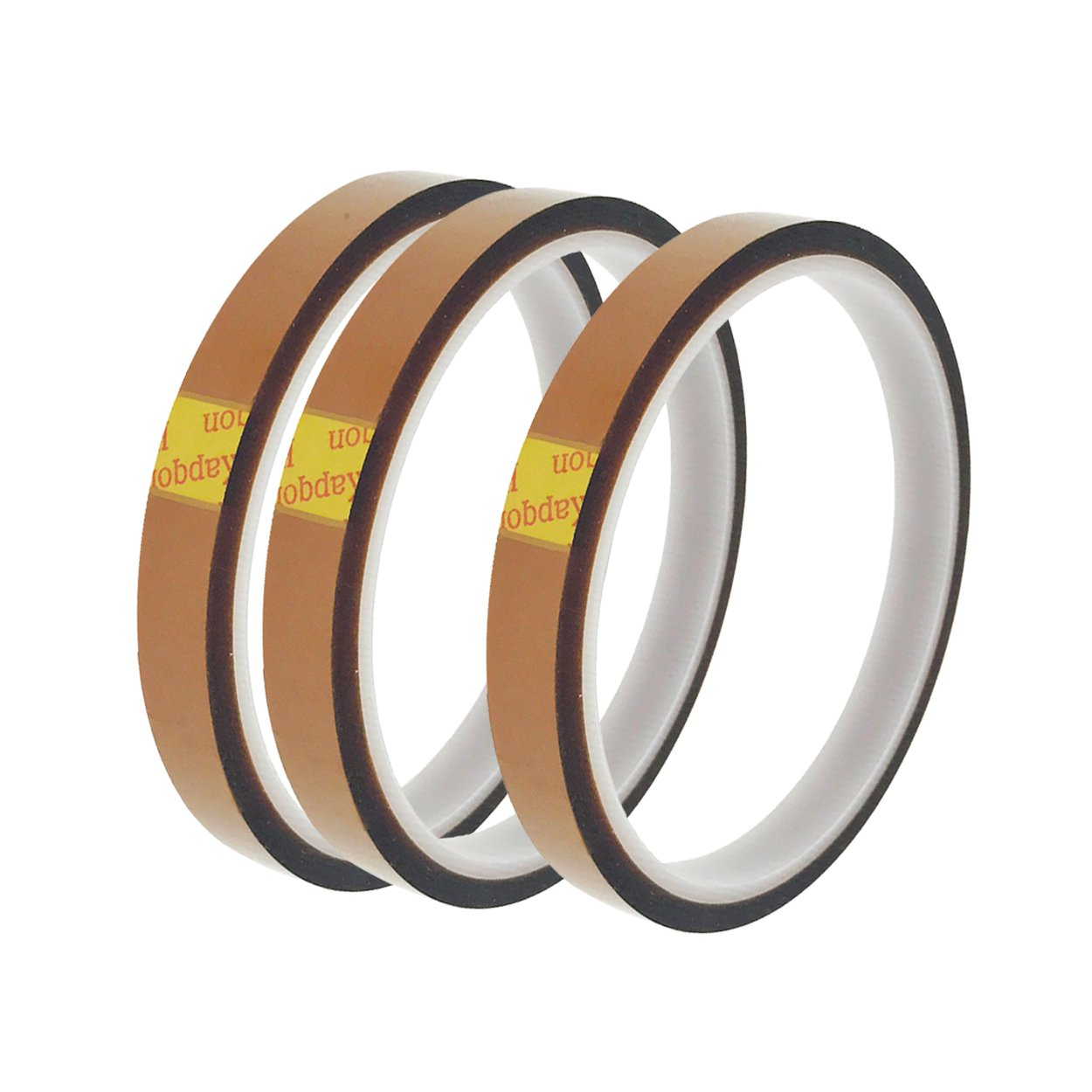 Saim High Temperature Heat Resistant Tape Polyimide Film Adhesive Tape 10mm x 30m, Pack of 3