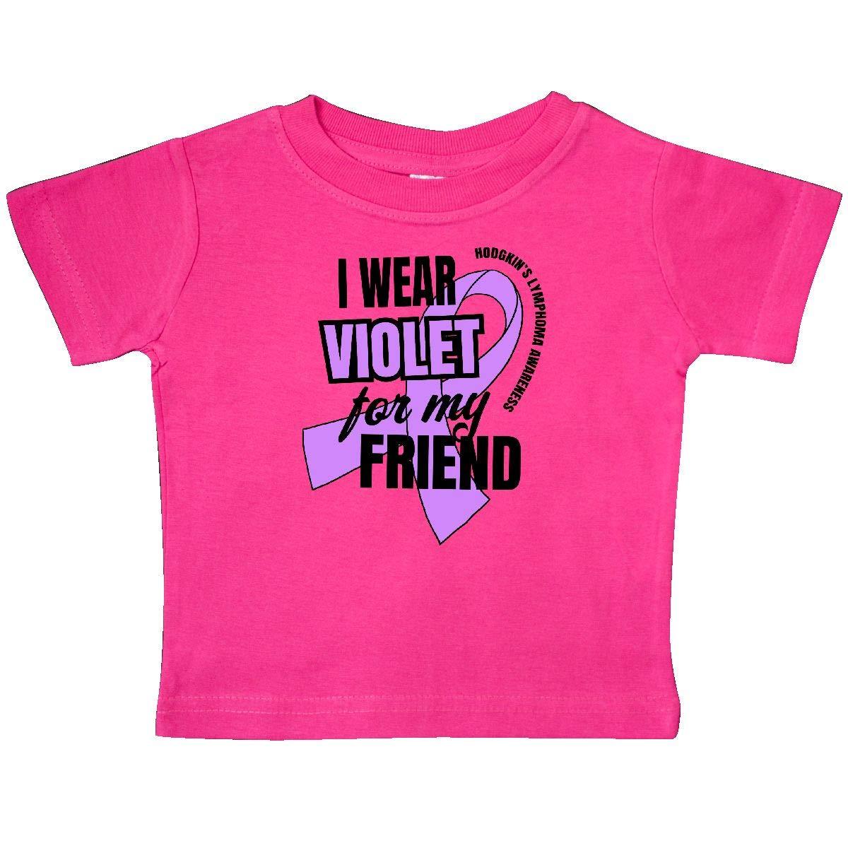 inktastic I Wear Violet for My Friend Hodgkins Lymphoma Awareness Baby T-Shirt
