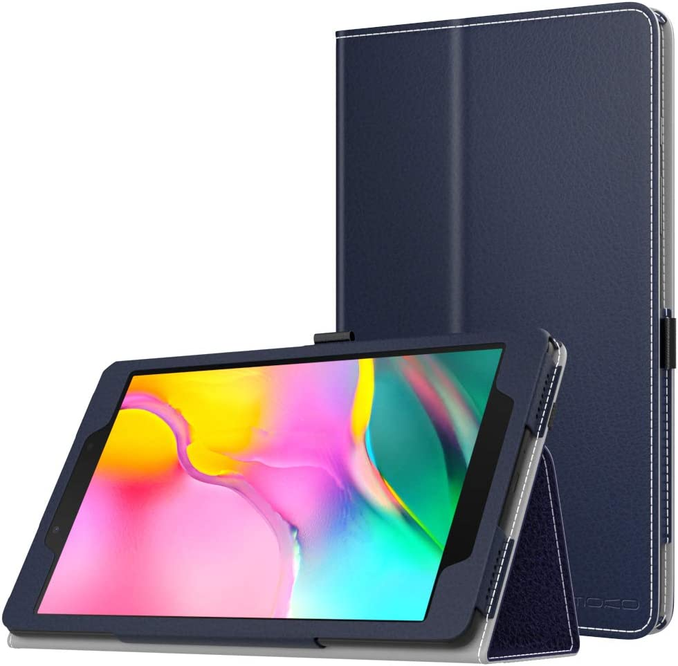 MoKo Case Fit Samsung Galaxy Tab A 8.0 T290/T295 2019 Without S Pen Model, Ultra Lightweight Slim-Shell Stand Folio Cover Case for Galaxy Tab A 8.0 2019 Release Tablet - Indigo