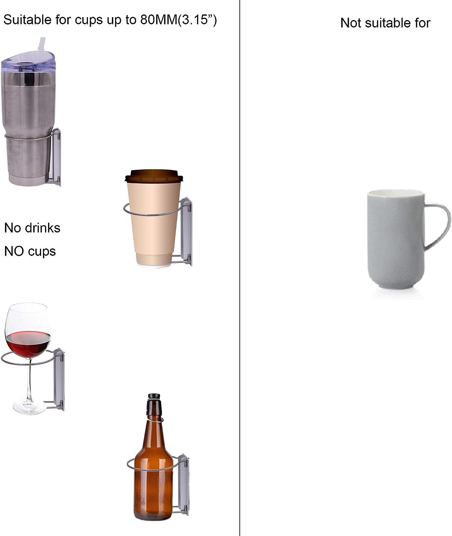 YYST Foldable Drink Holder Boat Drink Holder Cup Holder for Marine//Boat//Caravan//RV w Screws