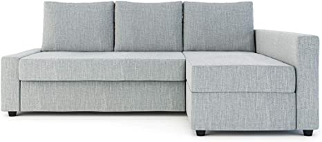 Amazon Com Sung Fit Friheten Slipcover For The Ikea Friheten With Chaise Corner Cover Sofa Bed Cover Sectional Slipcover Replacement Polyester Light Grey Home Kitchen