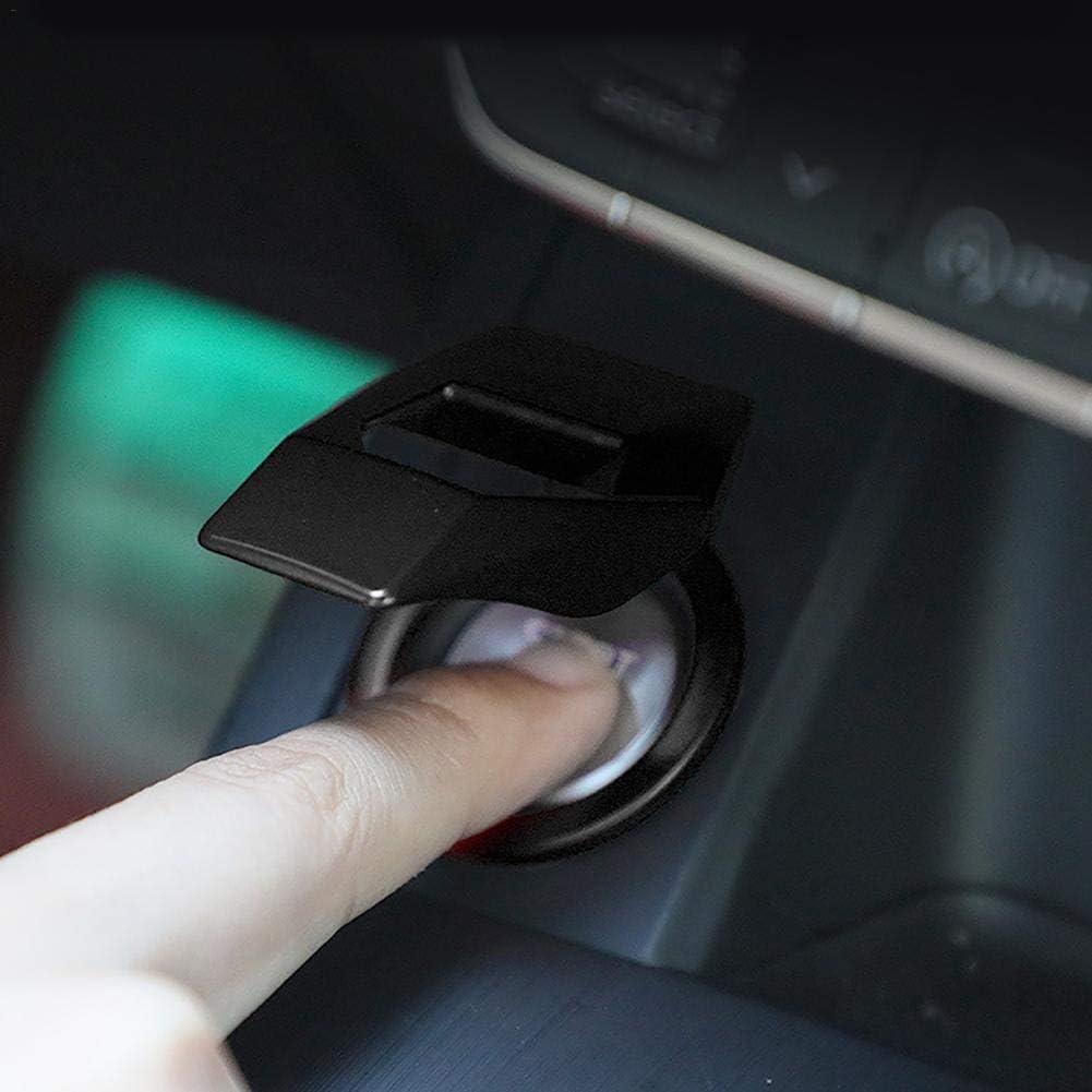 Start Stop Coperchio per La Decorazione del Pulsante Auto Dinapy Car Start Button Protective Cover Rosso E Nero Coperchio Interruttore Pulsante Arresto Arresto Motore Auto Universale