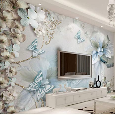 Amazon Com Hwhz Flower Butterfly Wall Painting Home Hotel Decor