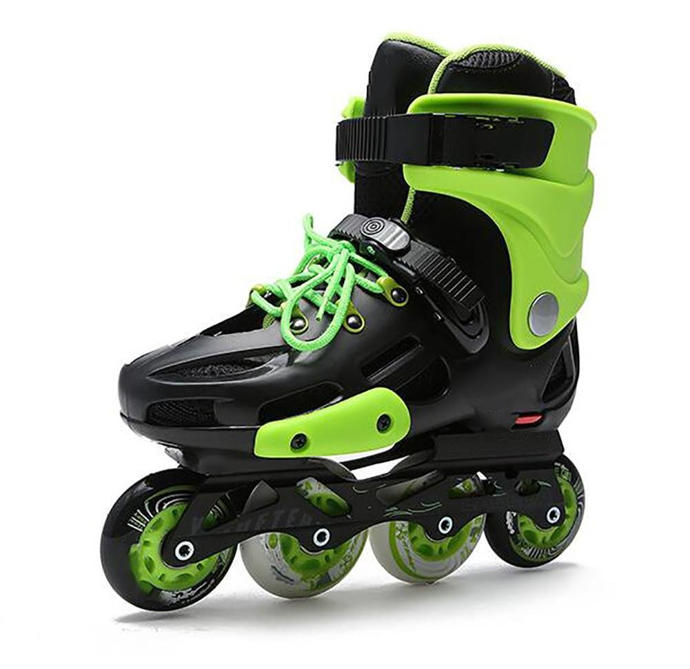 Inline Skates For Men Unisex Racing PP Material Aluminum CNC Stent PU Perfusion Wheel Green , 43