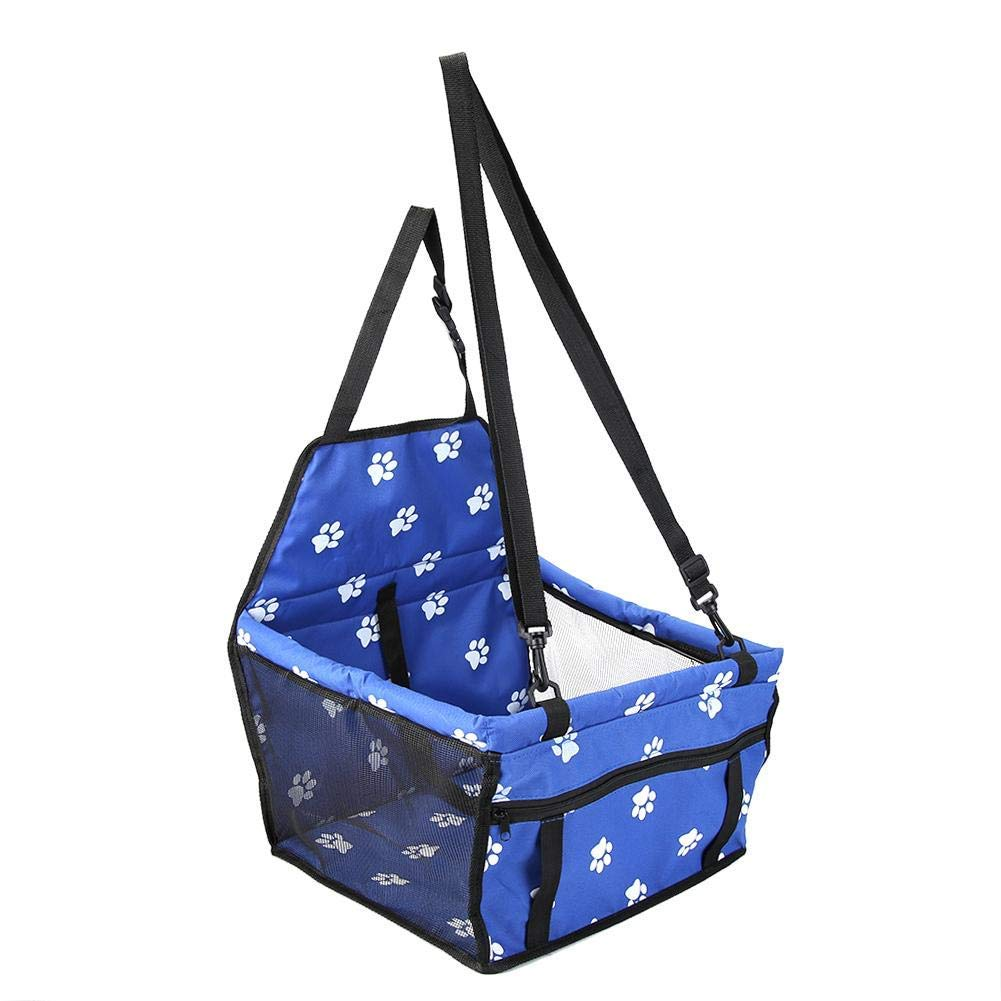 Blue VGQEIU Pet Car Booster Seat Folding/&Waterproof Dog Car Seat Carrier with Seat Belt /&Storage Bag for Dogs and Cats Perfect for Small and Medium Pets