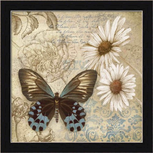 Butterfly Garden I by Conrad Knutsen Boho Chic Butterfly Framed Art Print Picture Wall (Butterfly Garden Framed Print)
