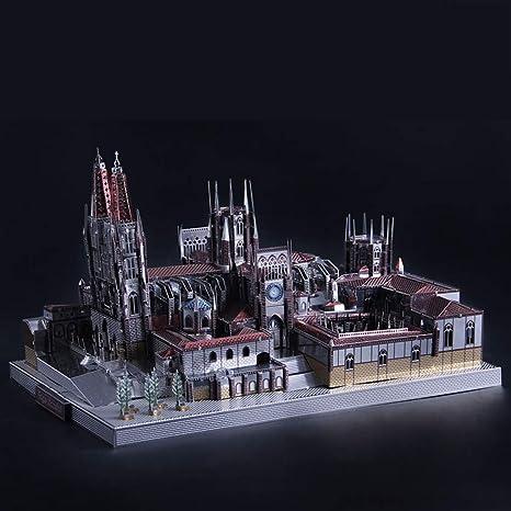 D DOLITY Juguete de Rompecabezas de Arquitectura Escultura de Metal 3D Modelo de Catedral/Templo