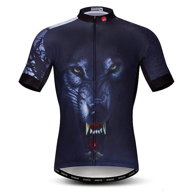 Weimostar Cycling Jersey Men Short Sleeve Quick Dry Bike Biking Shirt Breathable Pockets